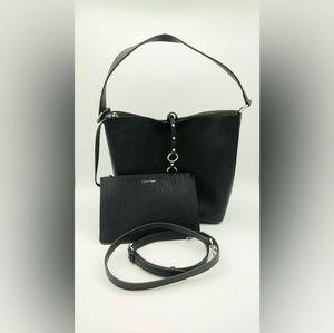 "Calvin Klein ""Marlise"" Leather Hobo Bag"